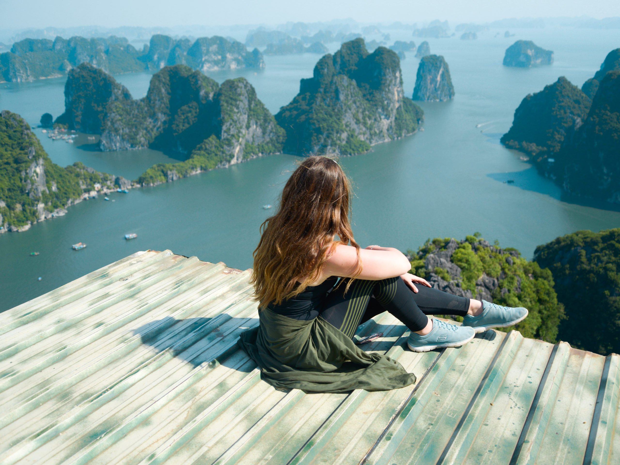 Visit Vietnam and the view over Ha Long Bay