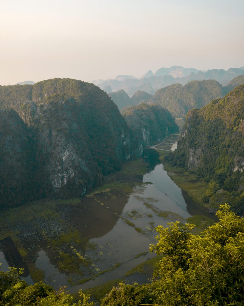 beautiful Vietnam views with limestone formations