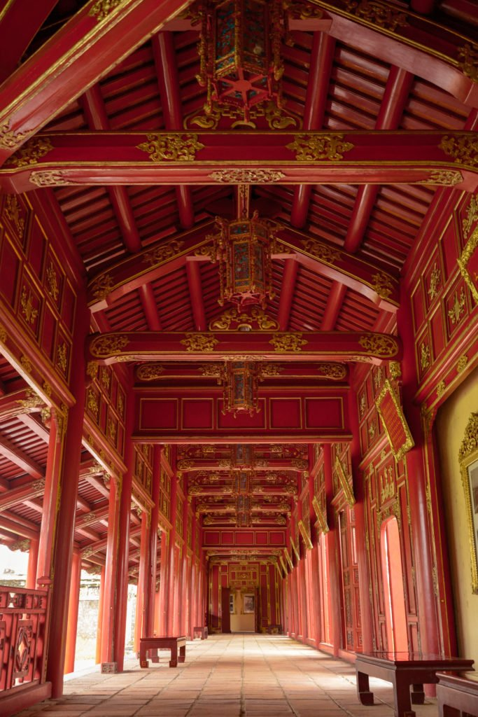 red corridor in the former Imperial City of Vietnam
