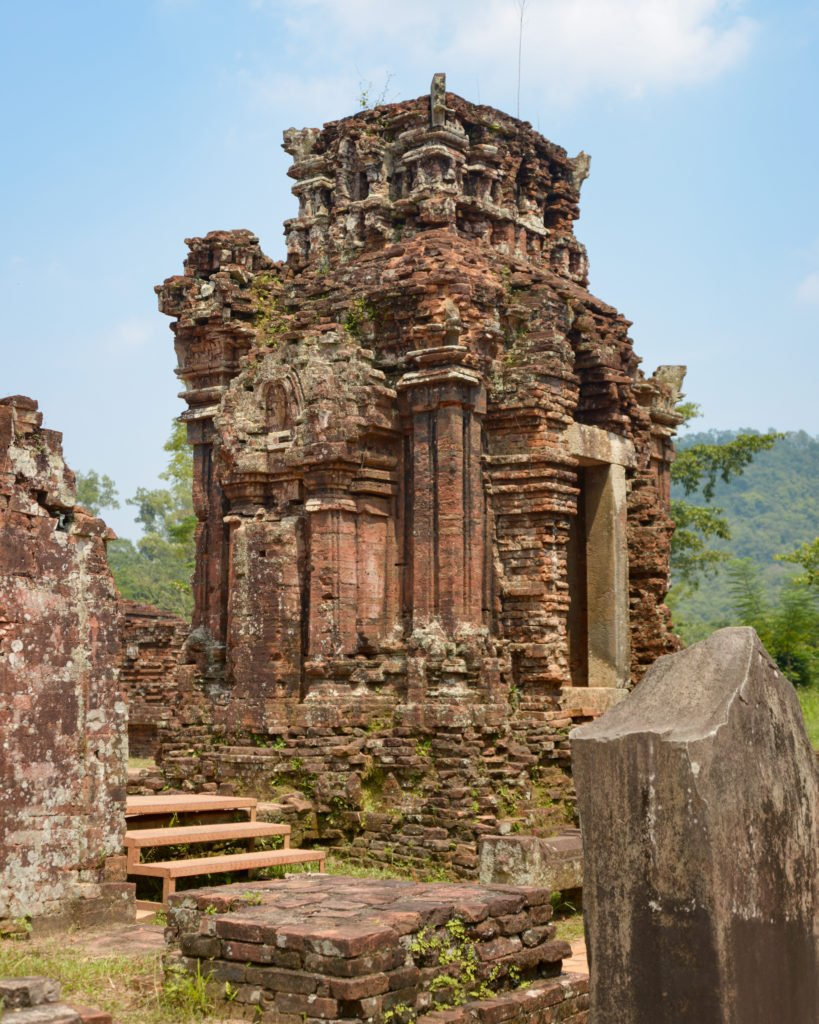 Temple ruins of My Son Sanctuary in Vietnam