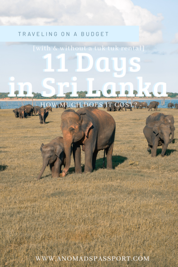 11 Days in Sri Lanka - How much does it cost to travel in Sri Lanka?