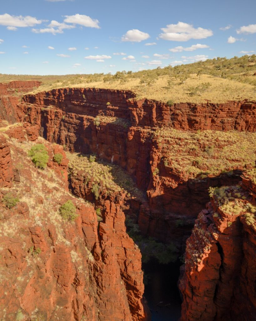 Red Karijini National Park Gorges near a lookout
