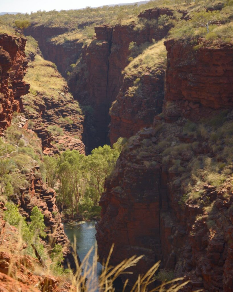 Junction Pool and gorges of Karijini as seen from above