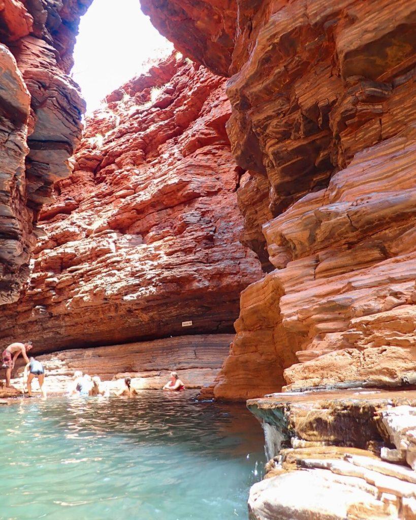 Kermit's Pool in Hancock Gorge in Western Australia's Karijini National Park