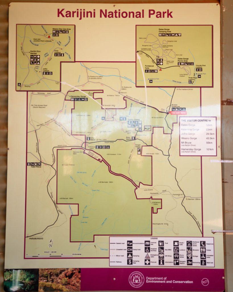 Karijini National Park Map
