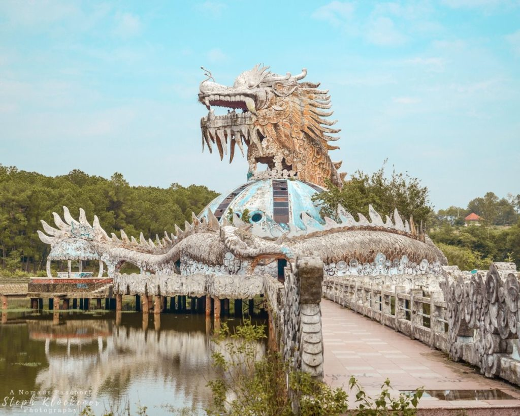 Dragon Building of the Waterpark in Hue Vietnam