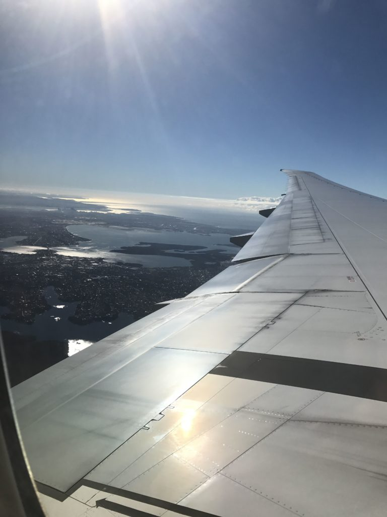 Catching a flight when moving to the other end of the world