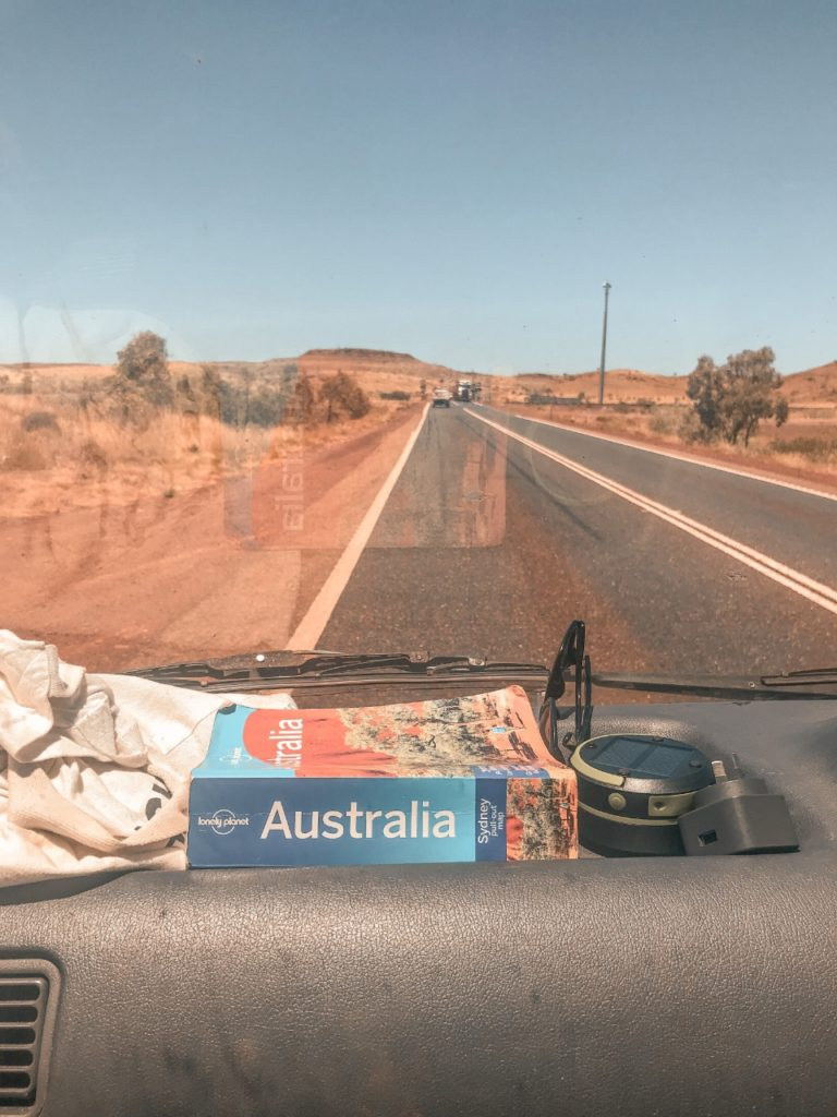 Guide on a dashboard that I used to plan my road trip through Western Australia
