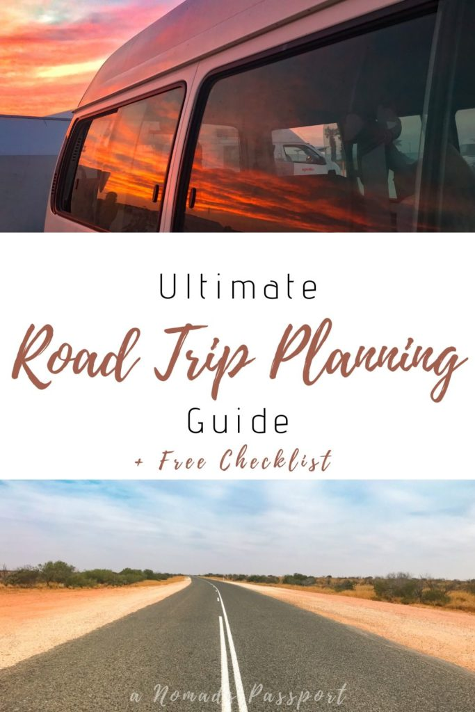 Roadtrip Planning with an open road and sunsets
