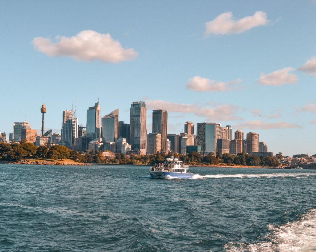 Moving to the other End of the World Sydney Skyline