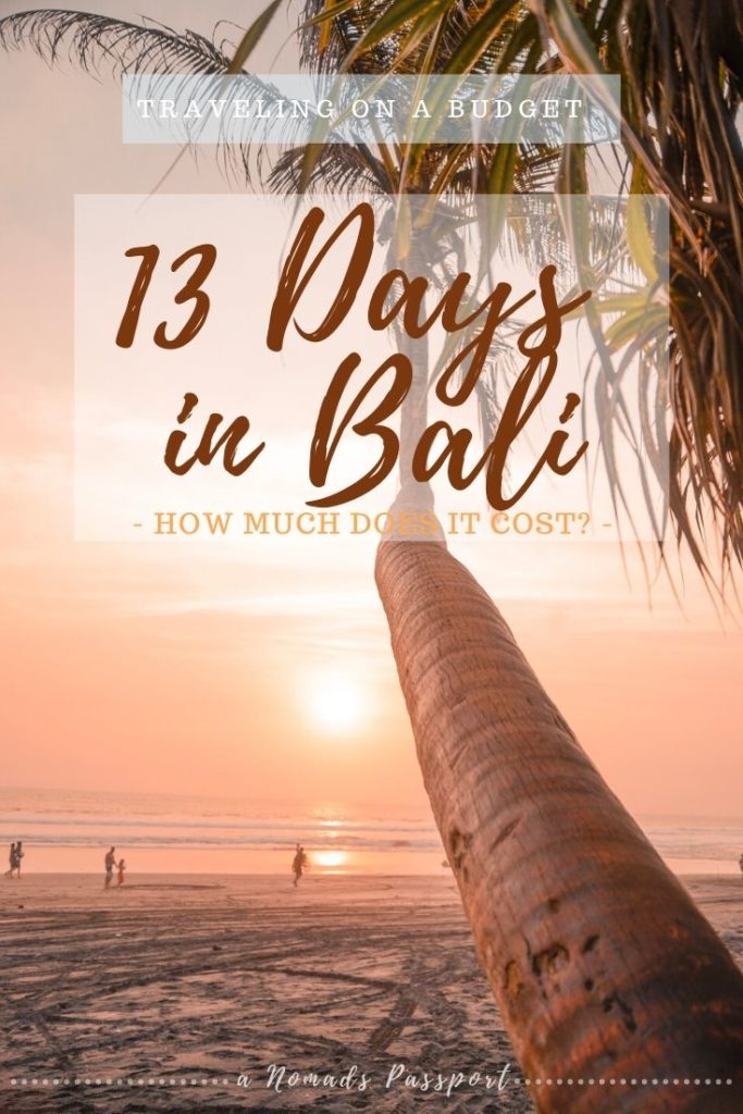13 Days on Bali - how much does it cost? Bali Budget