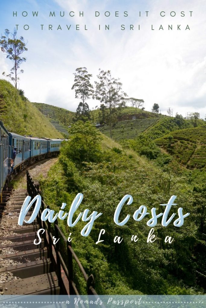 Daily Costs in Sri Lanka - How much does it cost to travel in Sri Lanka? Train driving through tea fields in Sri Lanka.