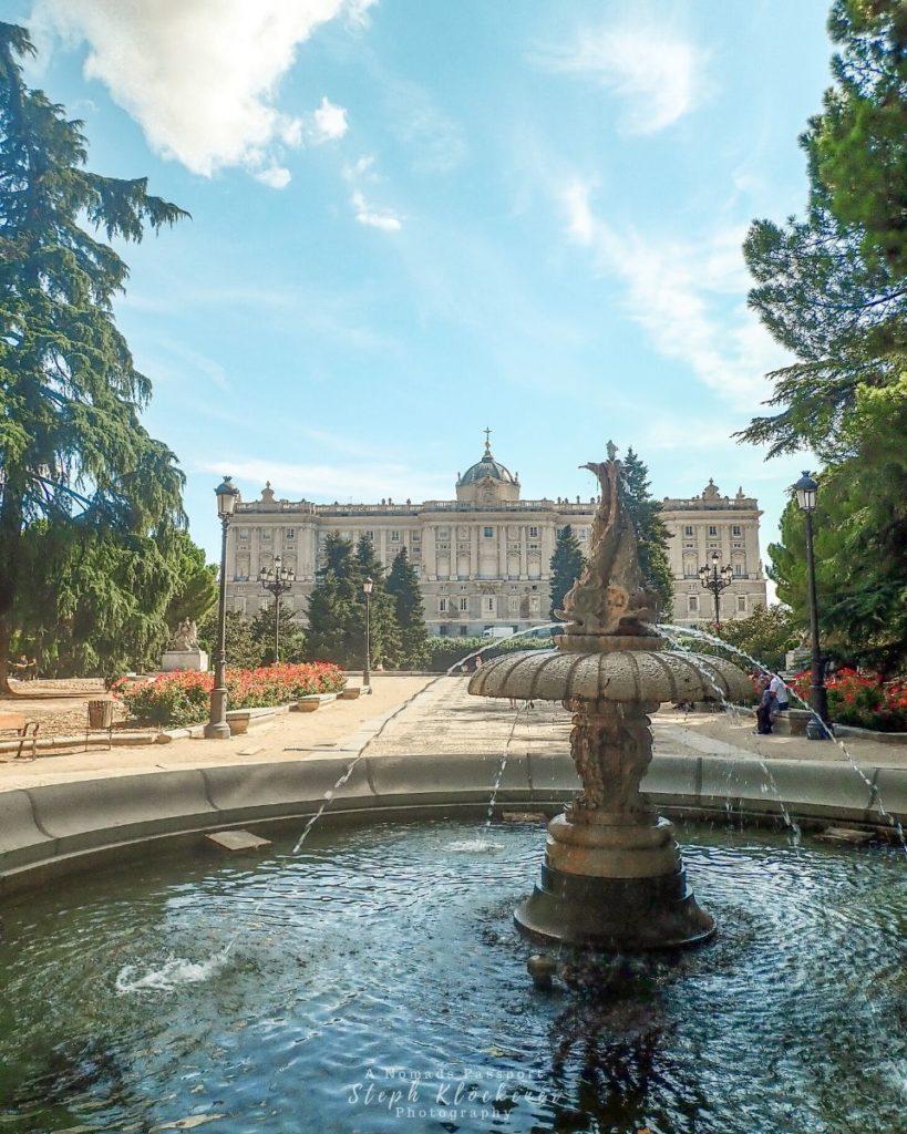 Backside of the Royal Palace Madrid