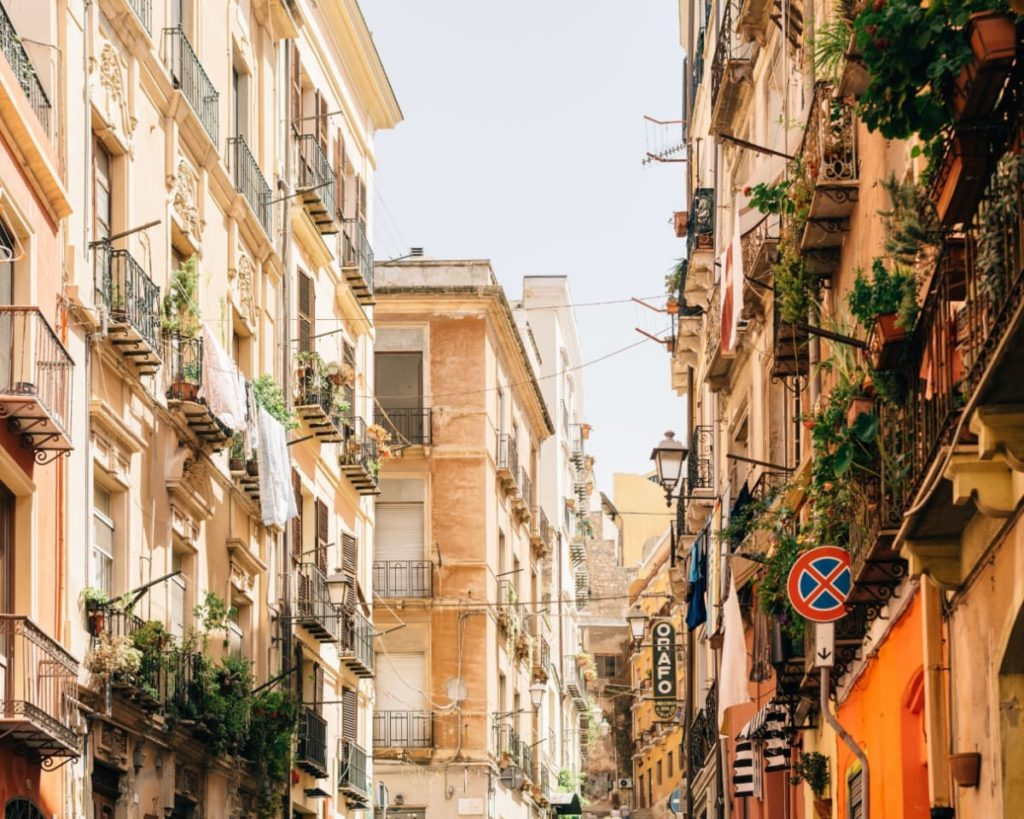 Italian Streets which you will see during Weekend Getaways in Italy Cagliari