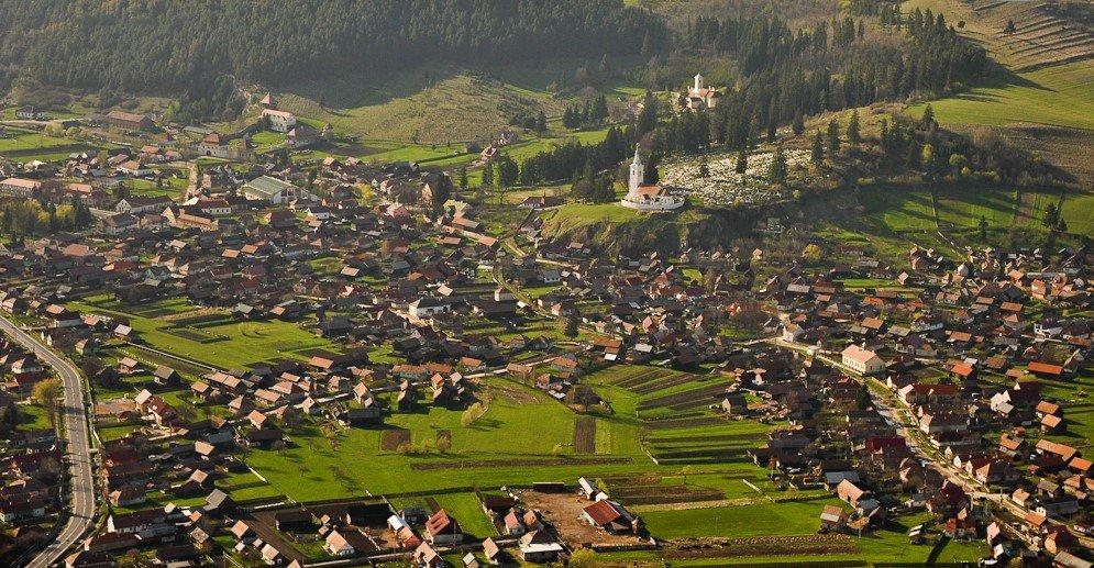 Landscape of Lazarea in Romania