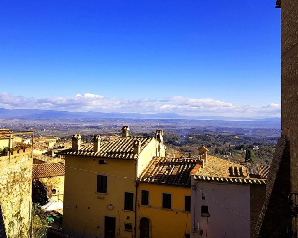 view over Montepulciano in Italy