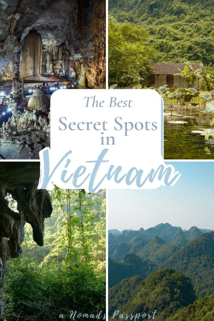 Photos of the nature in Vietnam with the text ''The Best Secret Spots in Vietnam""