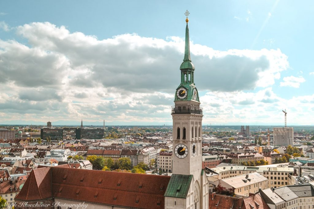 St. Peter tower viewpoint in Munich