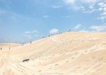 Sandboarding in the Lancelin Sand Dunes