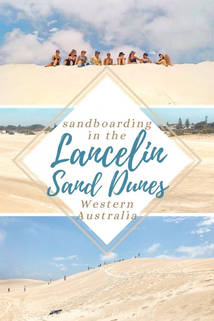 3 photos of the Lancelin Sand Dunes in Western Australia