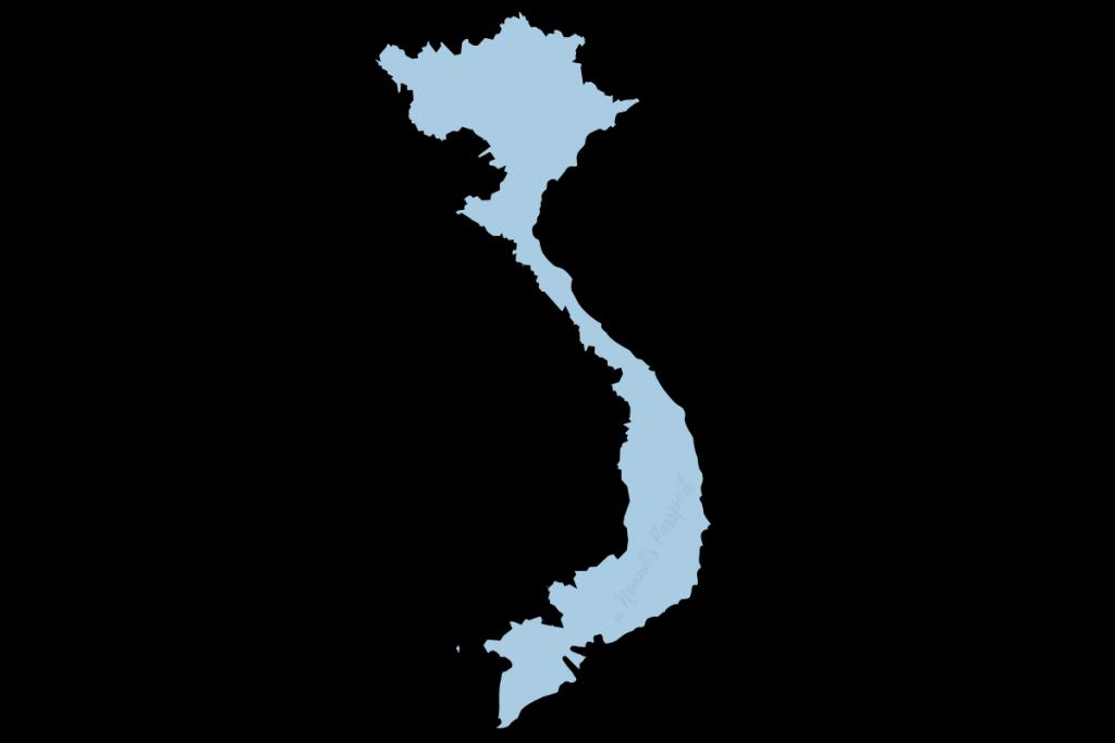 Vietnam shape