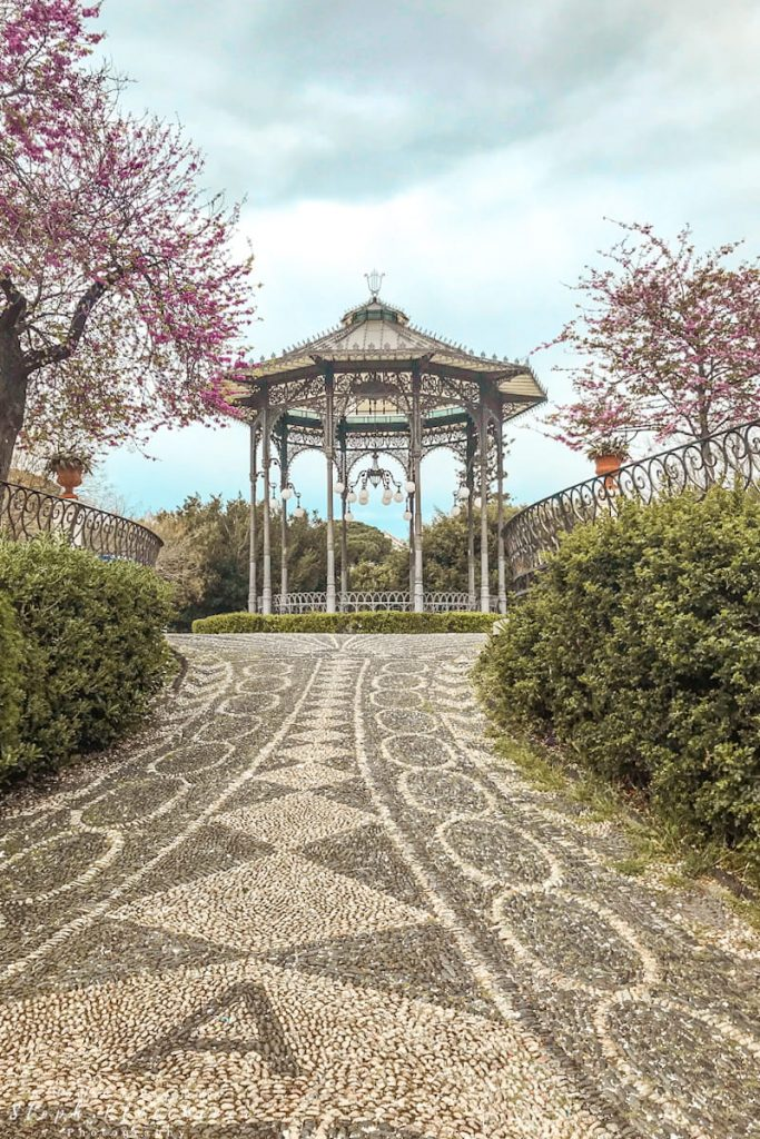 Pavilion in Giardino Bellini in Catania which is one of the hidden gems in Italy