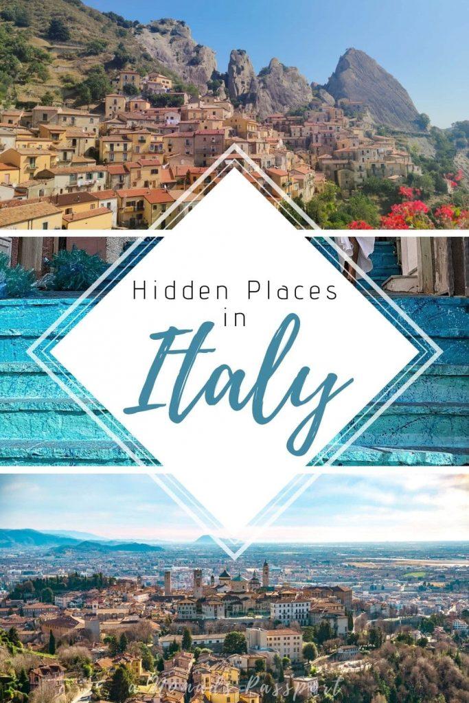Three photos of hidden gems in Italy