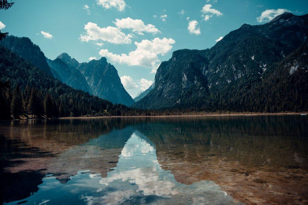 Lago Dobbiacio, which is a secret place in Italy