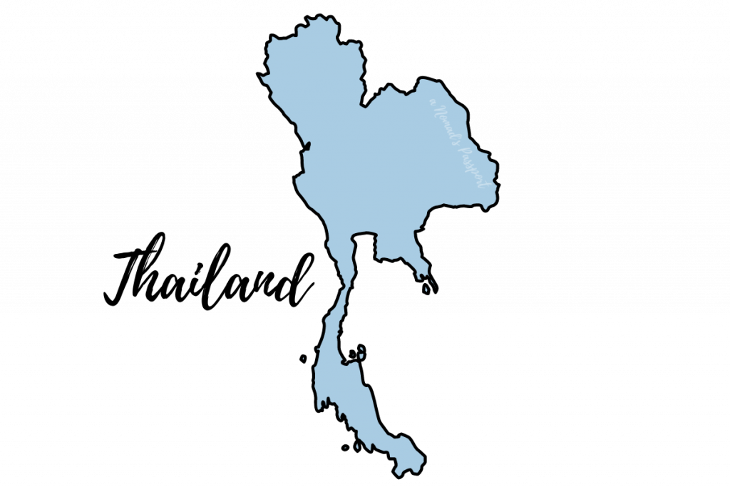 Shape of Thailand