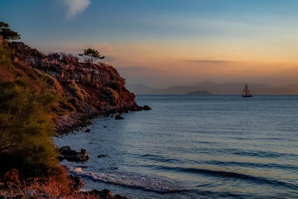 Cliffs of Aegina in Greece