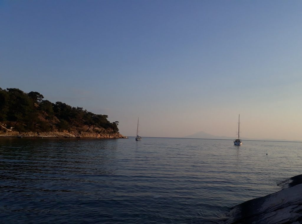coast of Thasos in Greece