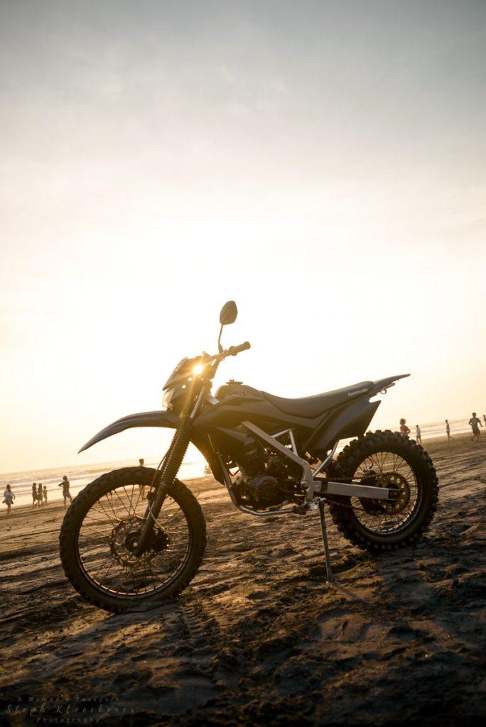 Dirt bike at Pasut Beach