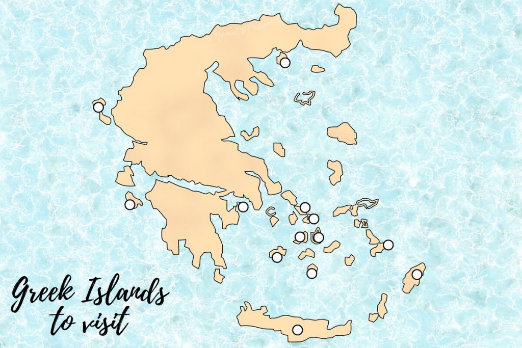 Map of the Best Greek Islands to visit