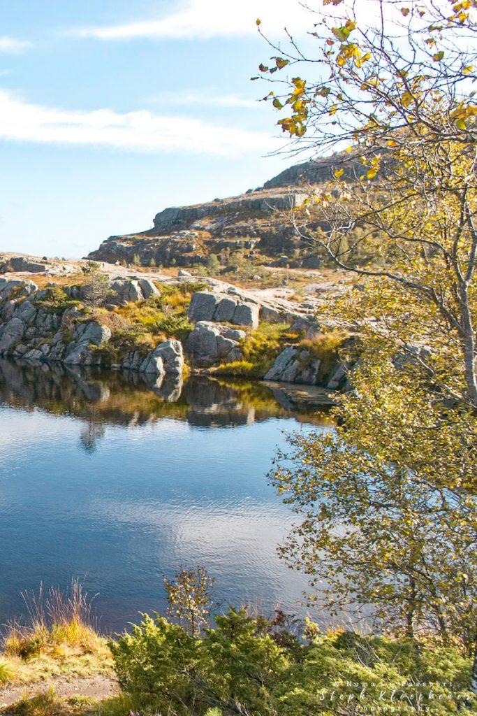 Mountain Lake along the Preikestolen hike trail