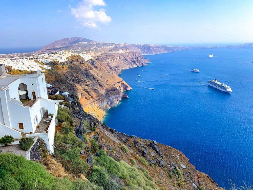 Cliff of Santorini