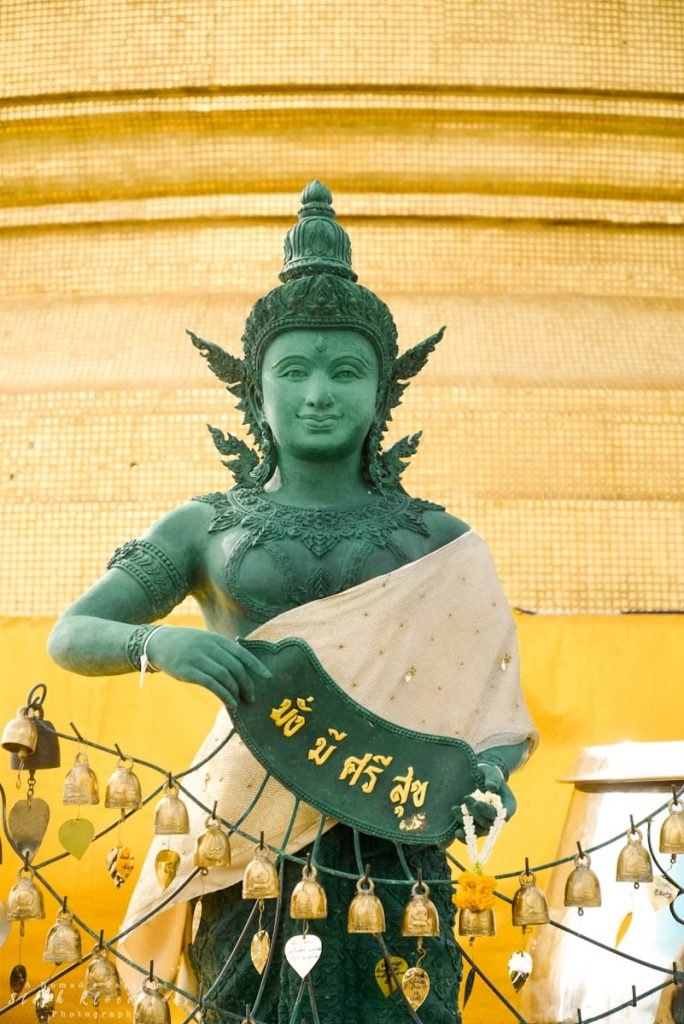 statue in a temple in Bangkok, Thailand