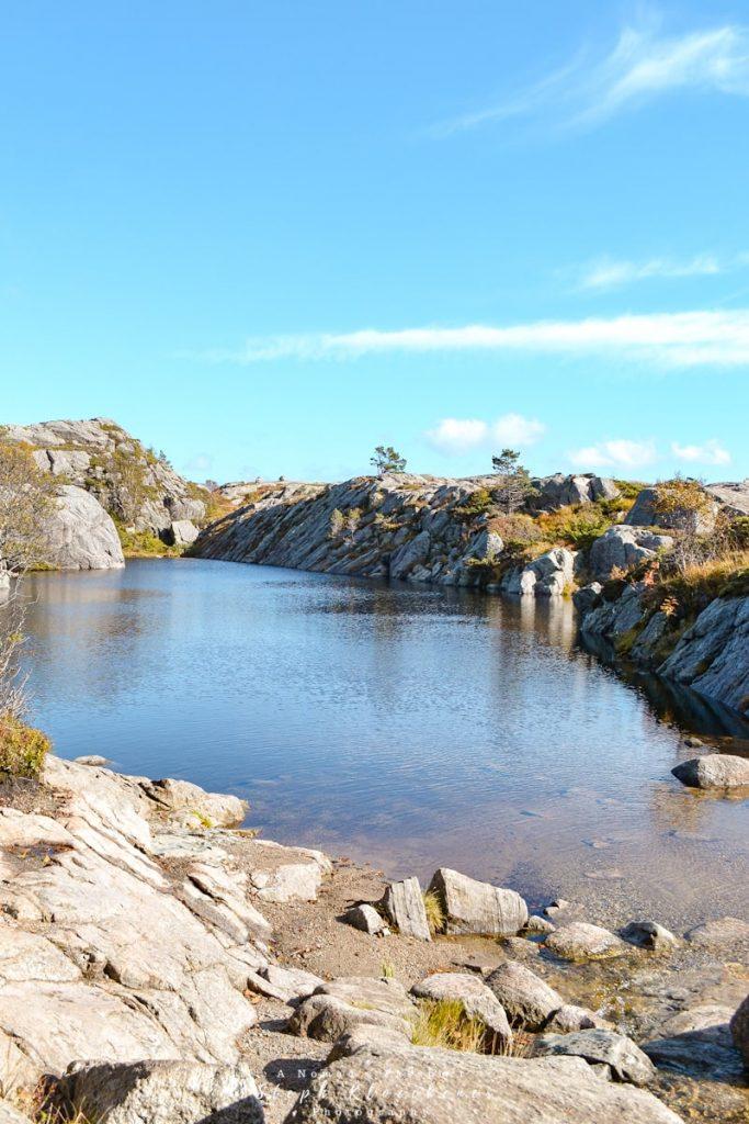 Lake in Tjødnane Area near Preikestolen