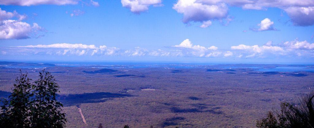 Lake Macquarie in Watagans National Park as seen from Heaton, NSW, Australia