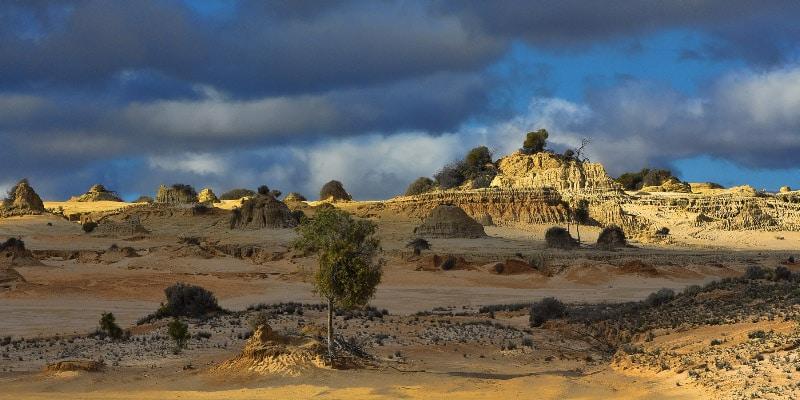 Landscape of Mungo National Park in Australia