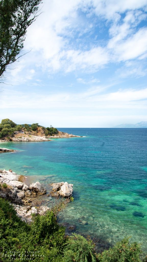 Coast with blue and turquoise waters off Kassiopi - one of the best spots to take Curfu Images