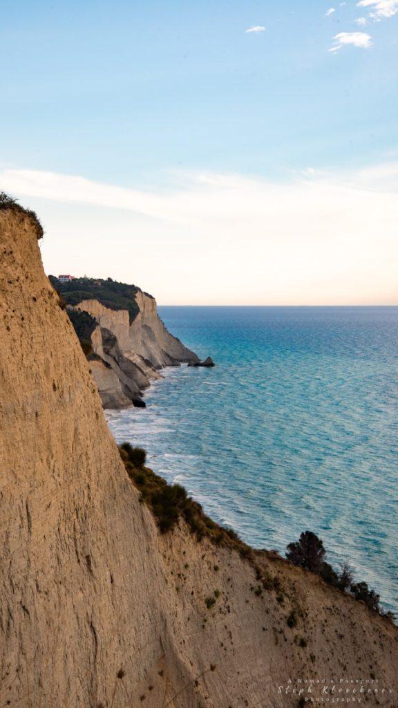 Cliffs of Corfu near Cape Drastis