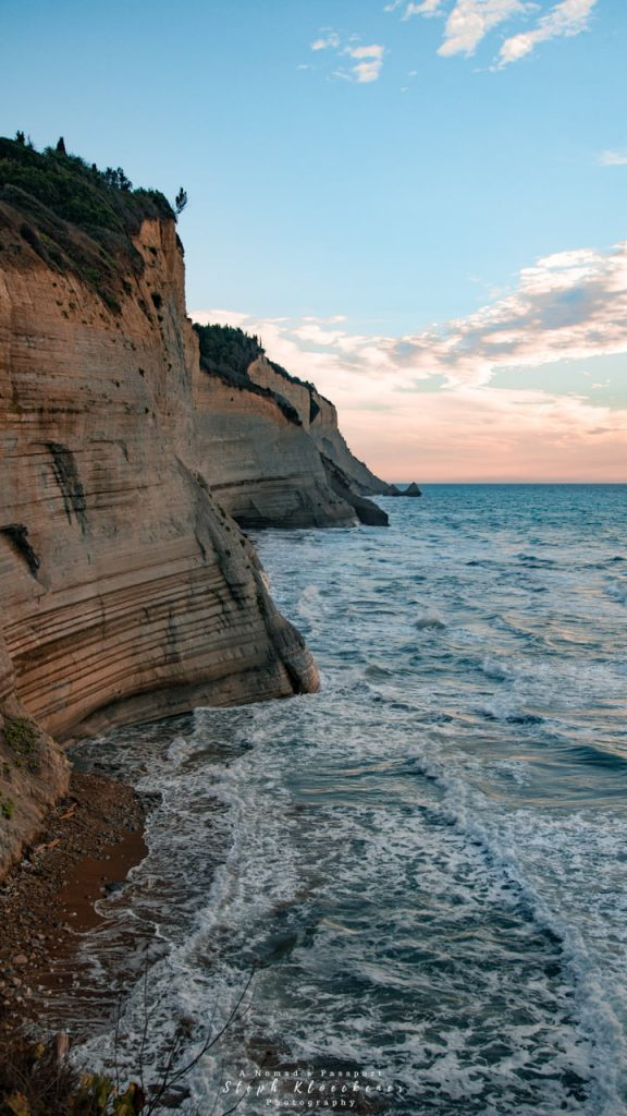 Corfu Images of Logas Beach Cliffs
