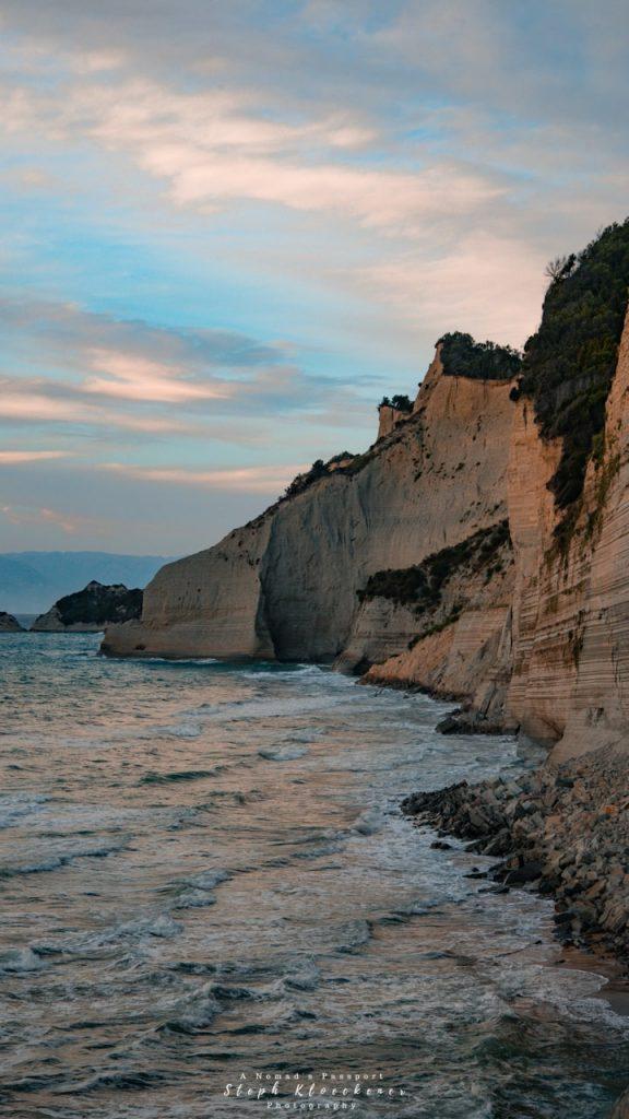 Logas Beach Cliffs, Corfu