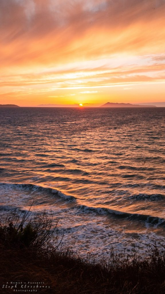 Sunset at Logas Beach in Corfu